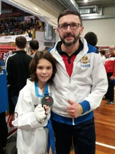 Filippo Maio e il coach Roberto Fittabile con la meritata medaglia d'argento